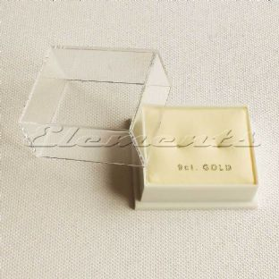 Plastic Clear Lid Stud Earrings Display Boxes With Cream Pads 9ct Middle Hole